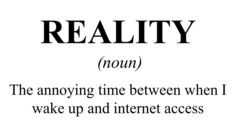 Reality (Internet) Dictionary Definition T Shirt