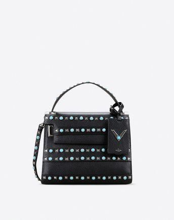 5640e4b29de9f3 Are you looking for Valentino Garavani My Rockstud Rolling Small Single  Handle Bag? Find out all the details at Valentino Online Boutique and shop  designer ...