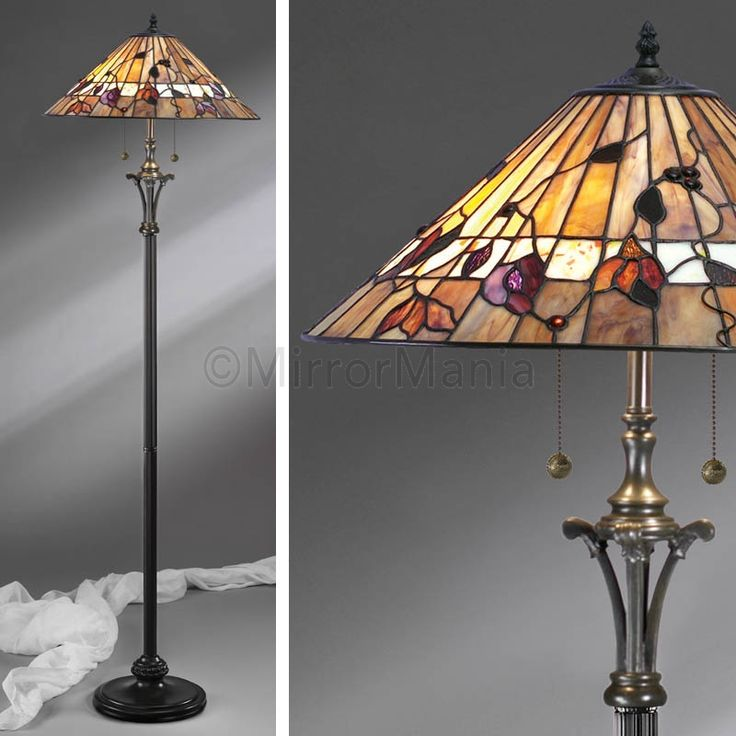 Bernwood #Tiffany Floor #Lamp - A blend of earthy colours with confetti art glass http://www.mirrormania.co.uk/home-decor/lighting/floor-lamps/bernwood-tiffany-floor-lamp.html?utm_content=bufferd238e&utm_medium=social&utm_source=pinterest.com&utm_campaign=buffer #Wineoclock