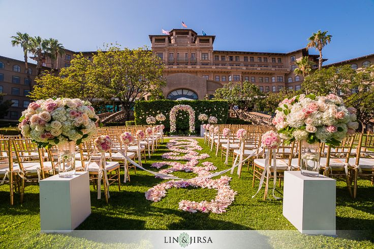 The Langham Pasadena Wedding | Michael and Allison | #Rosepetals #weddingaisle #flyboynaturals www.flyboynaturals.com