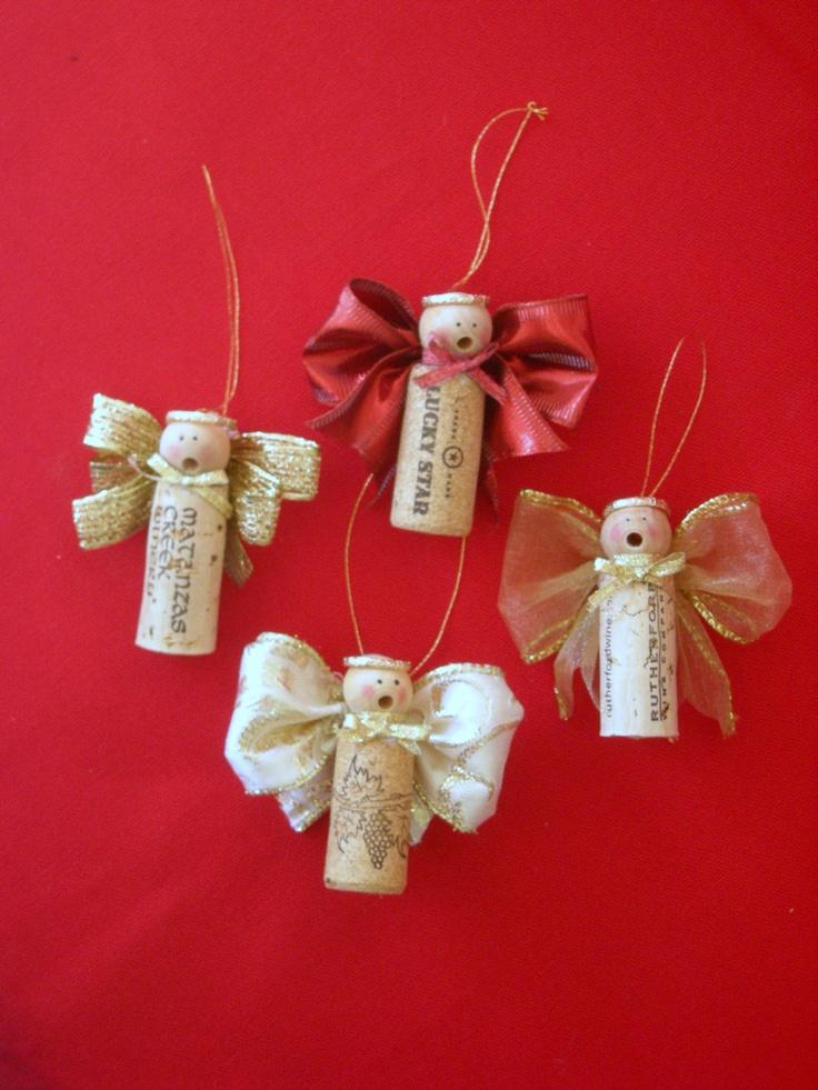 Caroling Cork Angels / Set of 3. $15.00, via Etsy.