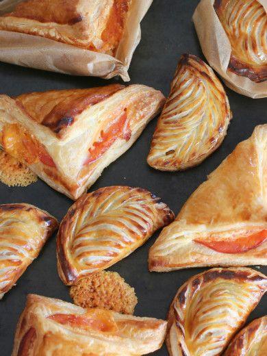 ハム&チーズパイとアップルターンオーバー