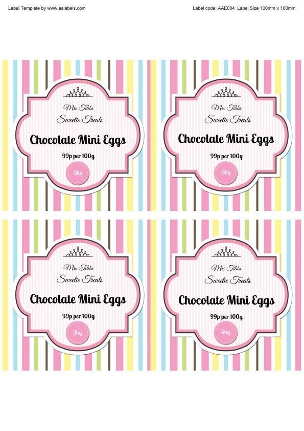 mini eggs sweet jar labels image printable labels tags pinterest sweet jars jar labels. Black Bedroom Furniture Sets. Home Design Ideas