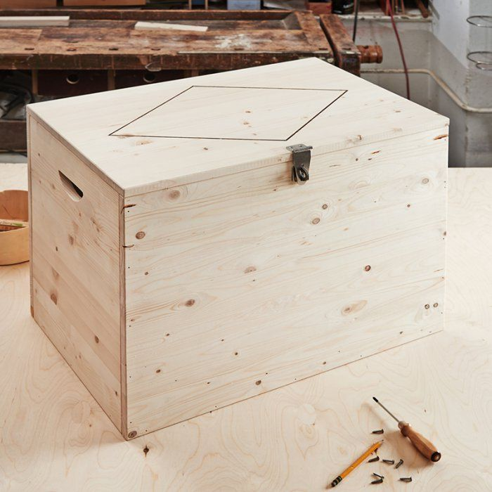Les 25 meilleures id es de la cat gorie coffre bois en - Comment fabriquer un coffre a jouet en bois ...