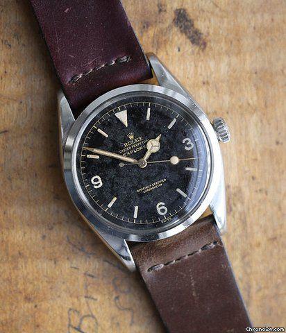Rolex Explorer ad: £13,035 Rolex Explorer Ref. 6610 Ref. No. 6610; Steel; Automatic; Year 1956; Location: Germany, München