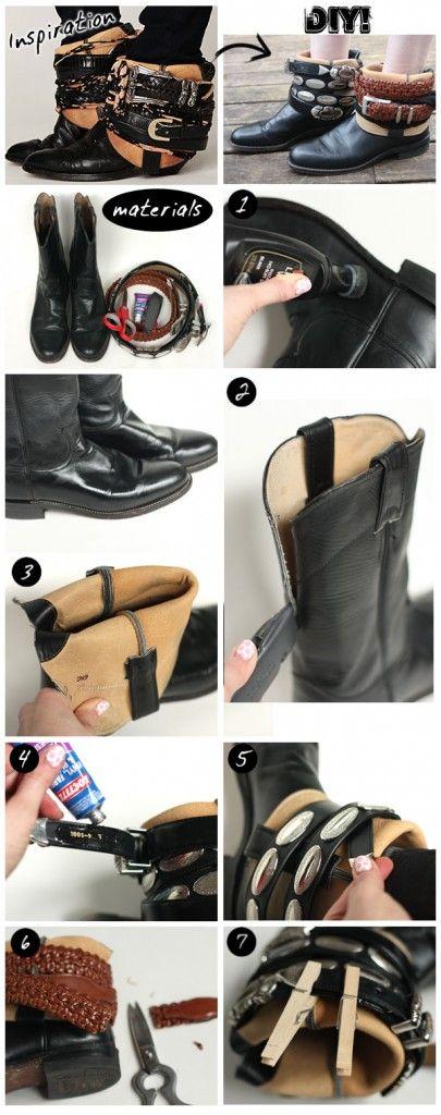 DIY Free People Luxury Jones Belt Wrapped Vintage Cowboy Boots