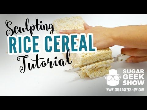 30 best rkt images on pinterest petit fours postres and pies all your questions answered on how to make rice cereal for sculpting carving or gravity defying edible projects ccuart Images