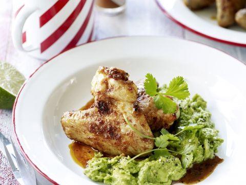 Gemarineerde kippenvleugels met guacamole -                         Libelle Lekker