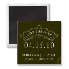 Calligraphic Flourish Save the Date Magnet magnet