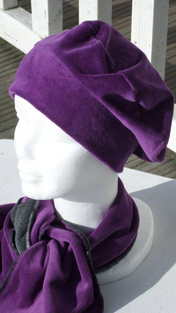 Ensemble bonnet béret chapeau turban et écharpe femme créateur ... e3870f6c0a0