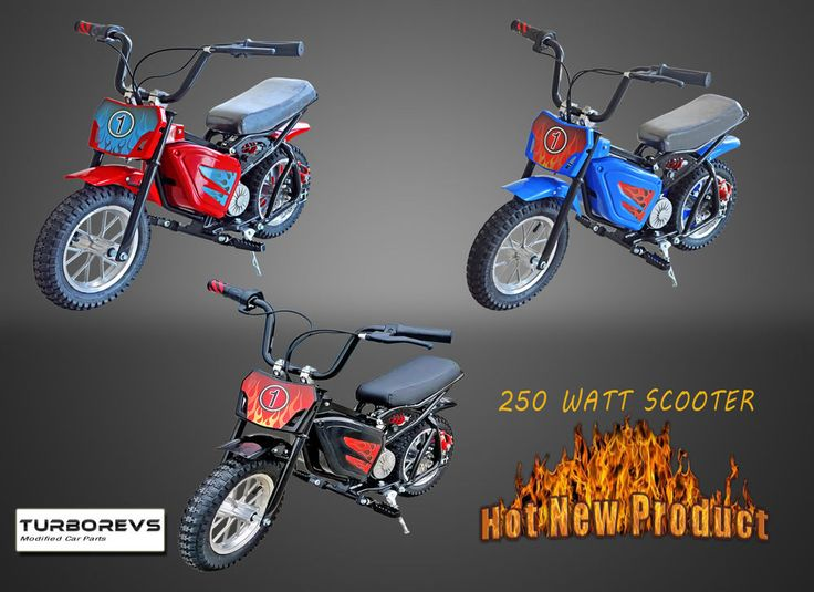 NEW 250W ELECTRIC RIDE ON DIRT MINI MOTO SCRAMBLER SCOOTER BIKE