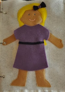 Quiet book doll with TONS of dress up clothesQuiet Book