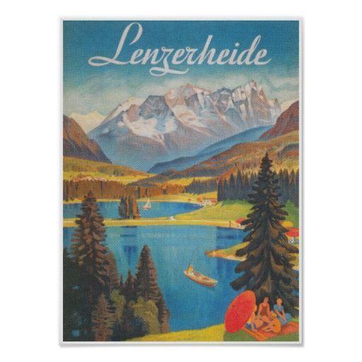 Lenzerheide, Switzerland Vintage Travel Poster