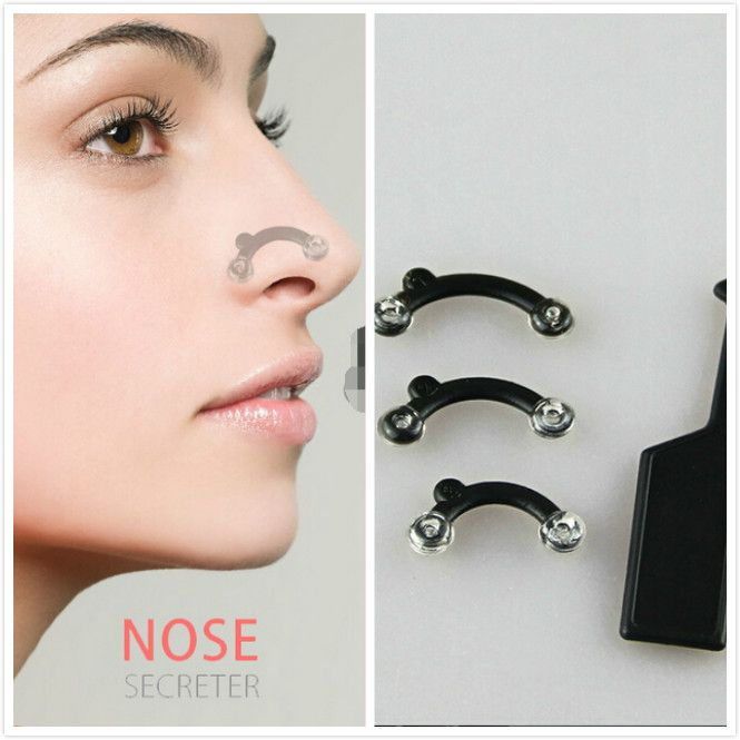 Hot 1 Set 3 Size for Nose Up Lifting Shaping Clip Secret Nose Clipper Shaper Beauty Tool No Pain Wholesale #Affiliate