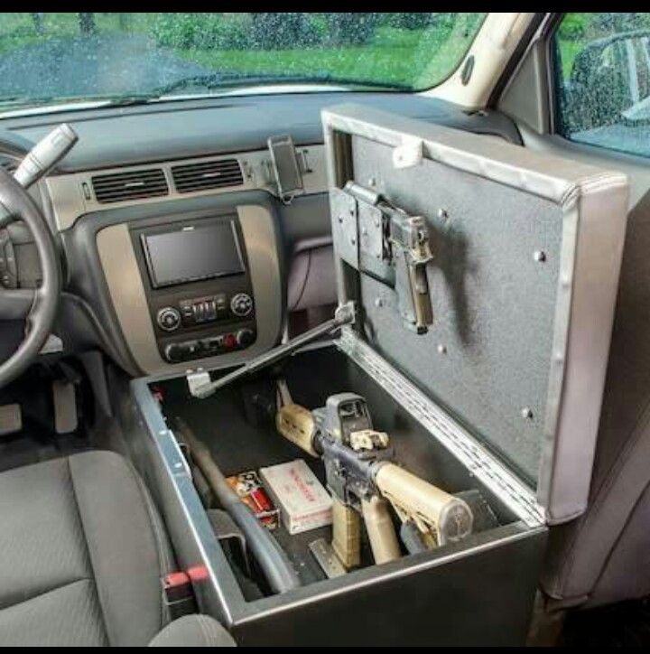 "Cool gun case inside vehicle (puts a new twist on ""after market"" mods)"