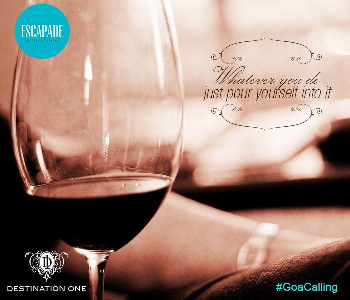 #wine #beach #finedining #Escapade #Goa