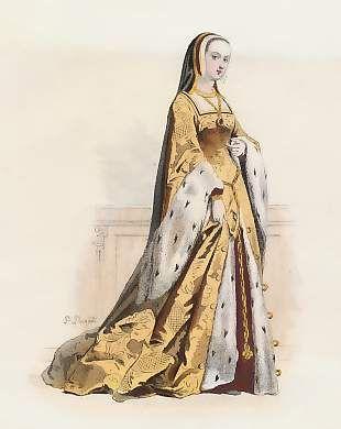 Anne De Bretagne, 2ème Femme De Louis XII, D´Après Gaignières, 1500