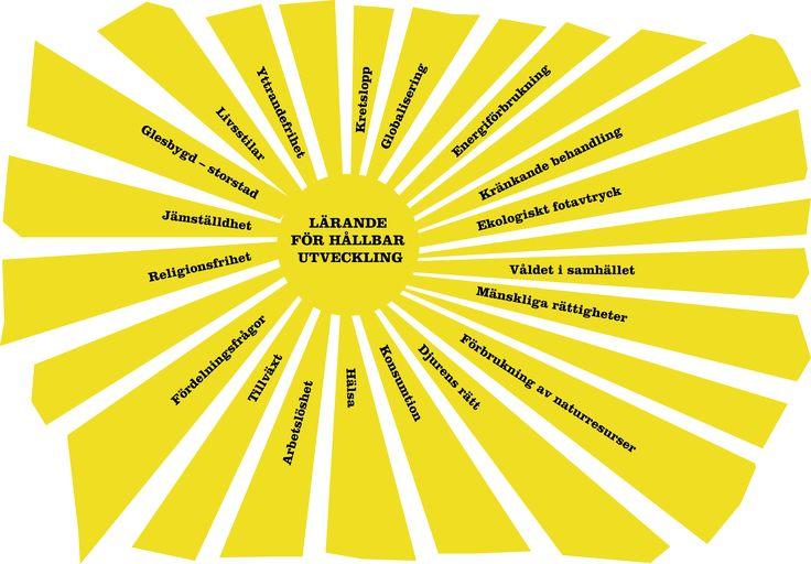 Vad betyder hållbar utveckling och LHU? | Naturskyddsföreningen. Exempel på områden som kan inkluderas i Lärande för Hållbar utveckling (Skolverket)