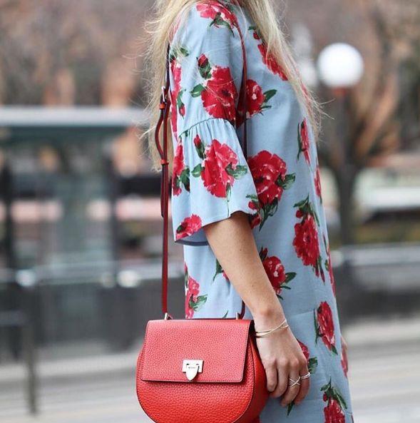 DECADENT Agnes tiny satchel bag, red