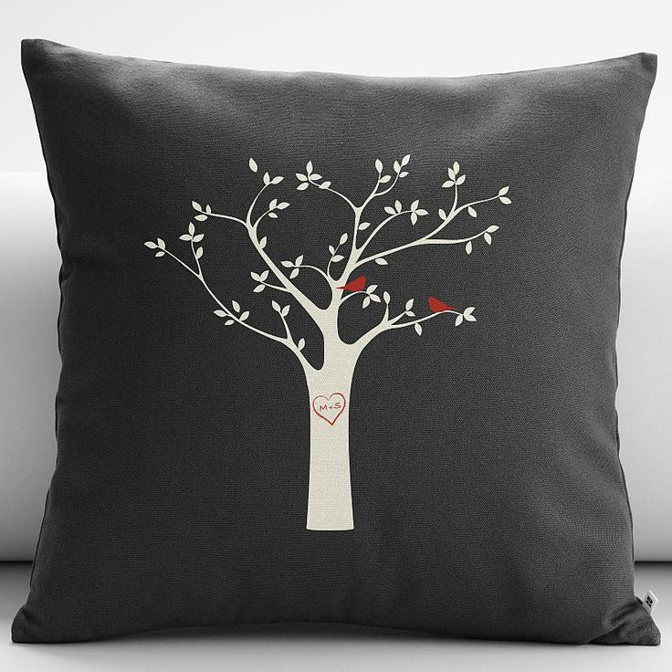 personalized tree initials throw pillow cover from RedEnvelope.com Cupids Corner! Pinterest ...
