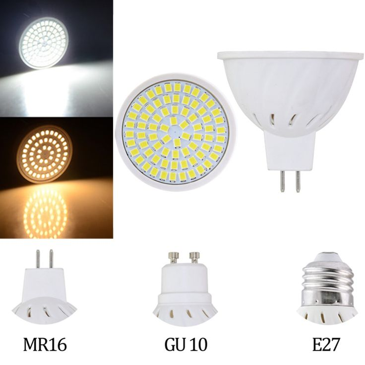 E27 MR16 GU10 3W/4W/5W SMD3528 LED Spot Lighting Bulb Warm White/White AC110V/220V  Specification: Voltage:AC110V/220V Wattage:3W 4W 5W Base Type:E27 MR16 GU10 LED Chip:SMD2835 LED Qty:36pcs(3W) 54pcs(4W) 72pcs(5W) Light color:Warm white(2800-3000K) White(6000-6500K) Lumen:680LM Beam angle:360 Material:Plastic Feature: Safe and efficient. Best energy saving low heat and lower power consumption. Great reducing carbon emission environmentally friendly. With the beam angle of 360 degree the…