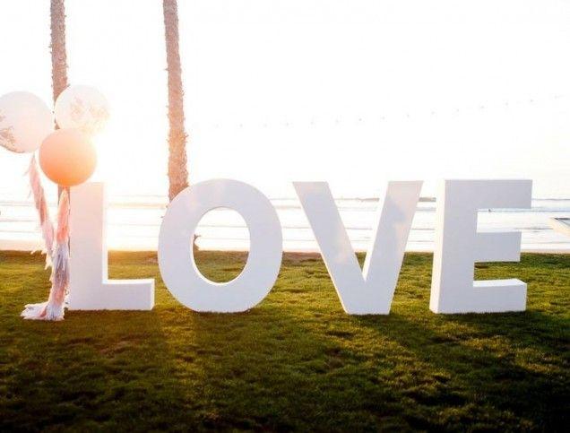 Letras grandes para bodas - Dimeic