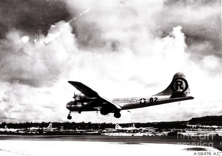 Enola Gay Landing After Hiroshima bombing