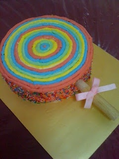 Lollipop Cake for a birthday party! love that idea!