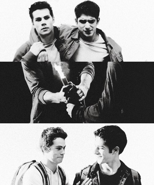 """Scott and Stiles - middle black & white picture, my favourite scene. """"Hay, buddy,"""" Stiles said to Scott. """"If you're in it, I'm in it too. So, we're going to do this together."""" (sorry wolfies if this quote is incorrect, just what I remember)"""