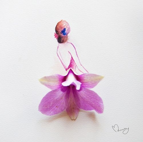 Whimsical Flower Art by Lim Zhi Wei of Love Limzy   Flowerona