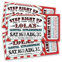vintage circus ticket template - Google Search                                                                                                                                                                                 More