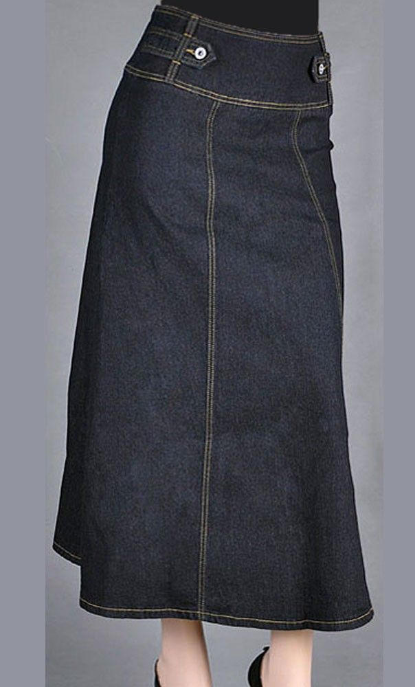 16 Best Long Denim Skirts To Wear With Boots Images On