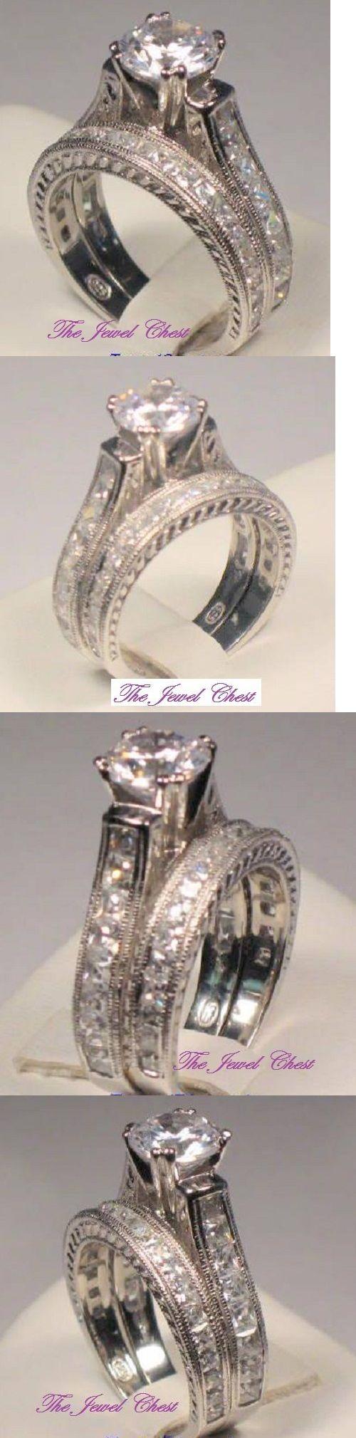 ebay eheringe ebay wedding rings sets Other Wedding Ring Sets Ladies Round Princess Cut Diamond Engagement Ring Bridal Wedding Set