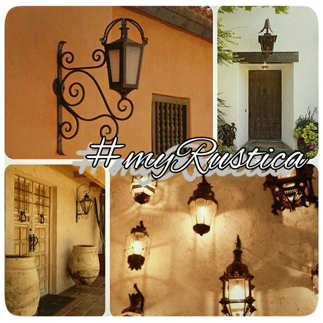 29 best rustic forged iron images on pinterest iron for Hacienda style lighting