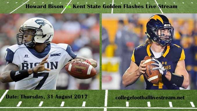 Howard Bison vs Kent State Golden Flashes Live Stream Teams: Bison vs Flashes Time: 3:30 PM ET Week-2 Date: Saturday on 9 September 2017 Location: Dix Stadium, Kent, OH TV: ESPN NETWORK Howard Bison vs Kent State Golden Flashes Live Stream Watch College Football Live Streaming Online We know,...