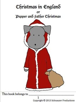 Learn about English history from the first century to this century through the changes in Father Christmas in Pepper's detailed eight-page 'newspaper' (for older students) and read about English Christmas traditions and the origin of Boxing Day (on the day after Christmas) in Pepper's booklets (for younger students).