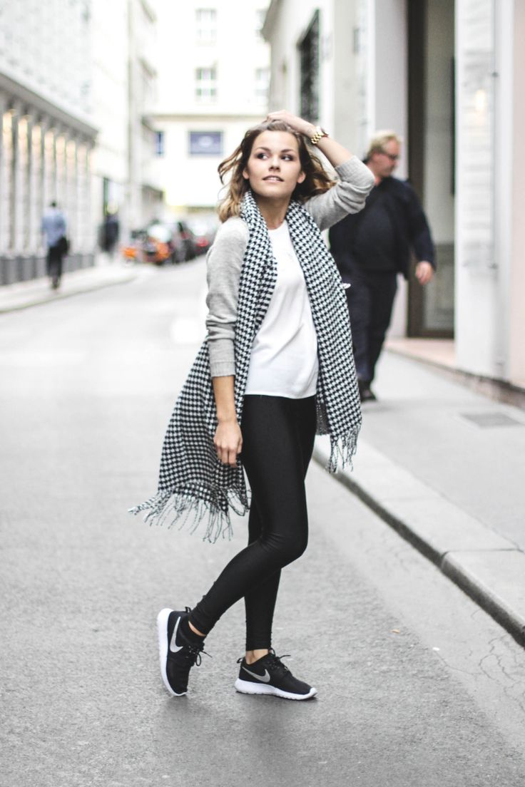 Outfit black and white for fall fashion pinterest - Anna laura kummer ...