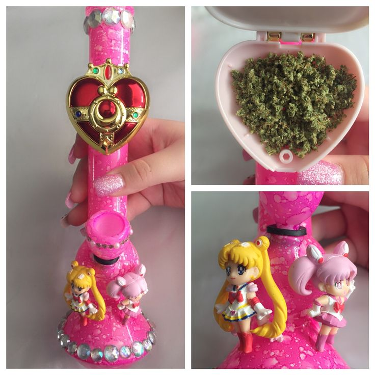 This is the Dopest thing ever  Pinner before me: made myself a Sailor Moon bong