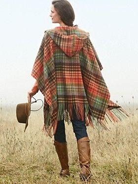 53b890994f Hooded blanket shawl