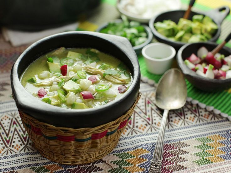How to Make One-Pot Pozole Verde de Pollo (Mexican Hominy Soup With Chicken) | Serious Eats