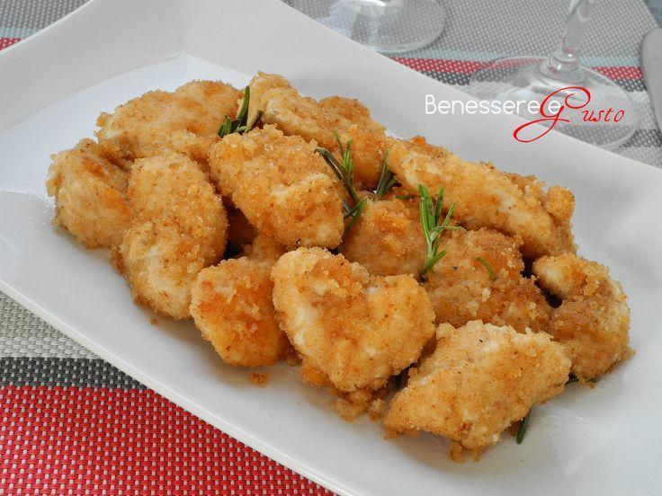 Bocconcini+di+pollo+al+forno+ricetta+light
