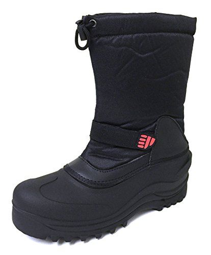 cool Men's Winter Boots Cold Weather Waterproof Nylon Insulated Thermolite Ski Velcro Strap Warm Snow Shoes