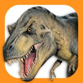 Dinosaur Fact Files iPad app - a free download from Amber Books Ltd. Contains lots of mini 'books' about different types of dinosaurs, from meat eaters to swimming dinos, full of facts and entertaining quizzes.