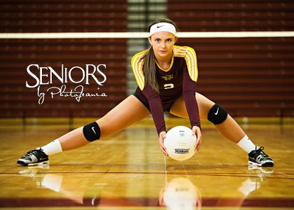 Volleyball senior picture ideas for girls. Great Volleyball DS pose and reflection. We love reflection in senior  				pictures #volleyballseniorpictureideas #seniorsbyphotojeania