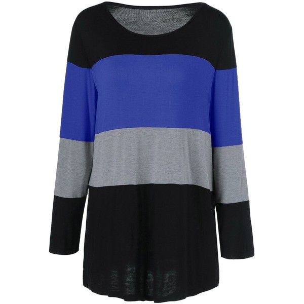 Plus Size Colorful Striped Comfy T Shirt (26 BAM) ❤ liked on Polyvore featuring tops, t-shirts, striped top, stripe top, women's plus size graphic tees, plus size tees and multi color t shirts