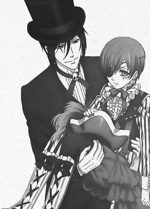 ❤   sebaciel   black   smile   ciel phantomhive   Sebastian Michaelis   book of circus   black butler   kuroshitsuji