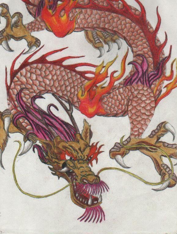 Картины японские драконы фото