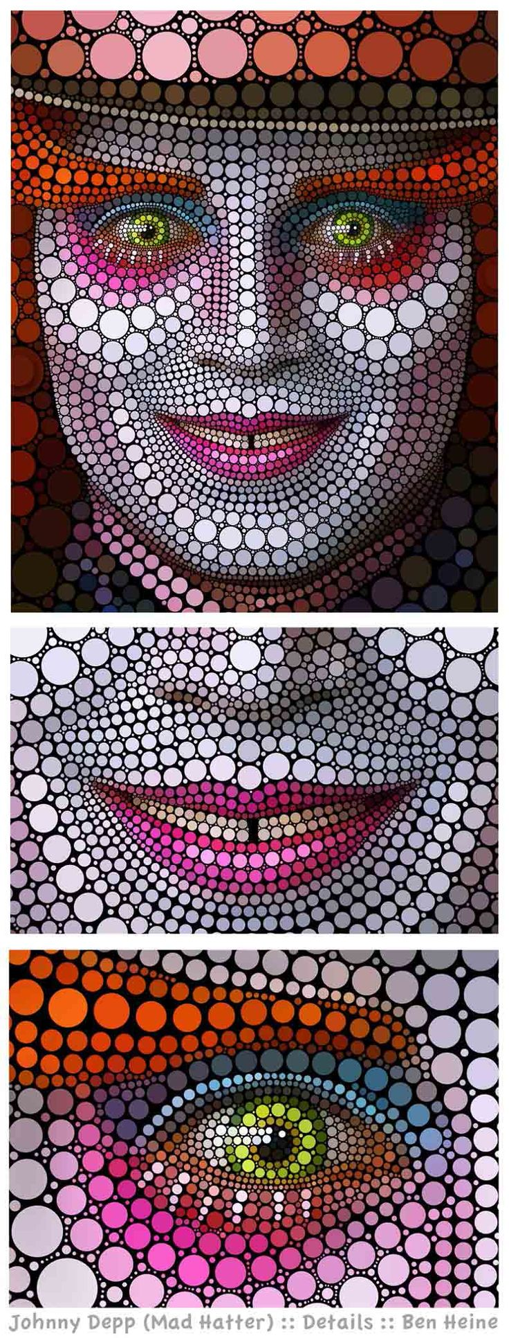 Art Made Entirely of Circles by Ben Heine «TwistedSifter  zentangle   mad hatter