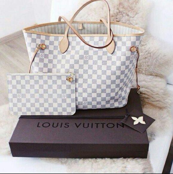 Louis Vuitton handbagqrl White Bags Totes