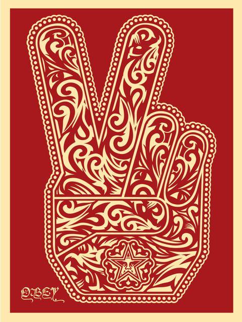 Shepard Fairey, 'Peace Fingers 2', 2016, Street Art for ACLU: Benefit Auction 2017 | Artsy